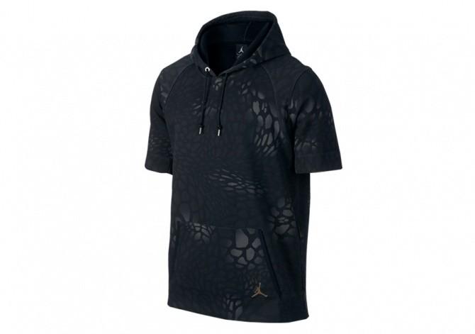 NIKE AIR JORDAN BLACK CAT HOODIE BLACK METALLIC CACAO