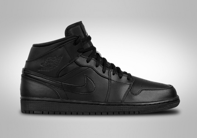 NIKE AIR JORDAN 1 RETRO MID BLACK