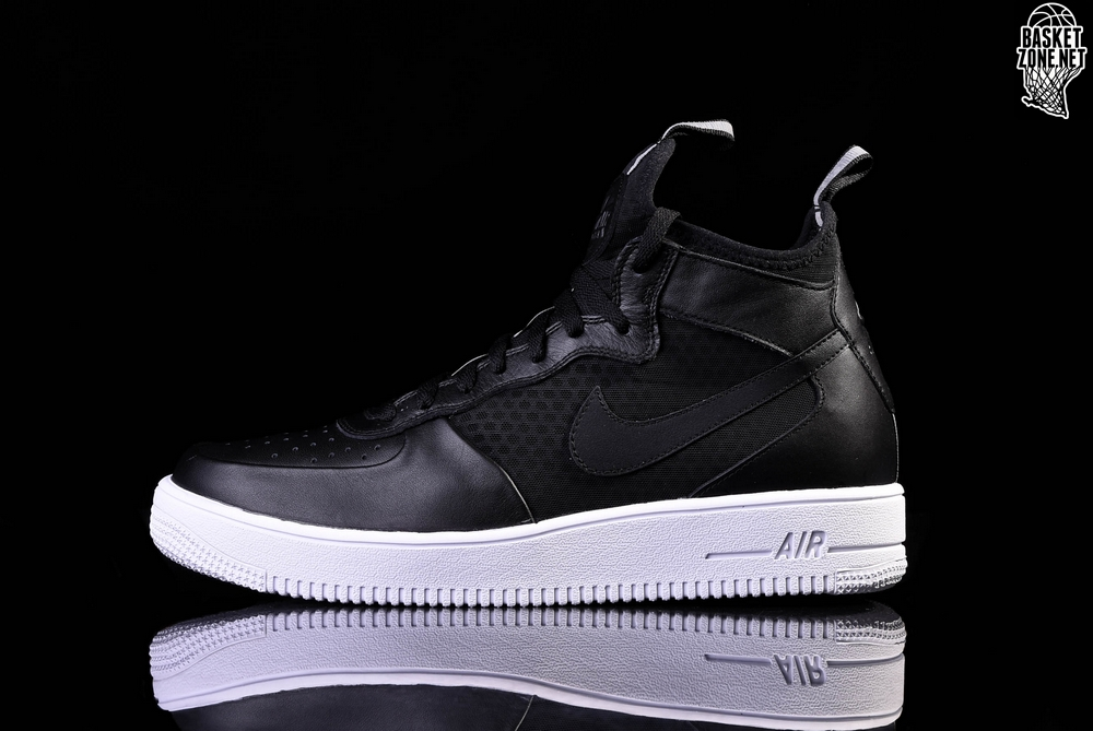 5a26f0267a48 NIKE AIR FORCE 1 ULTRAFORCE MID BLACK-WHITE price 3207.50 ...