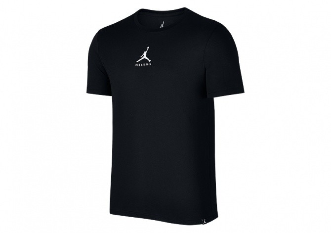 NIKE AIR JORDAN 23/7 JUMPMAN BASKETBALL TEE BLACK