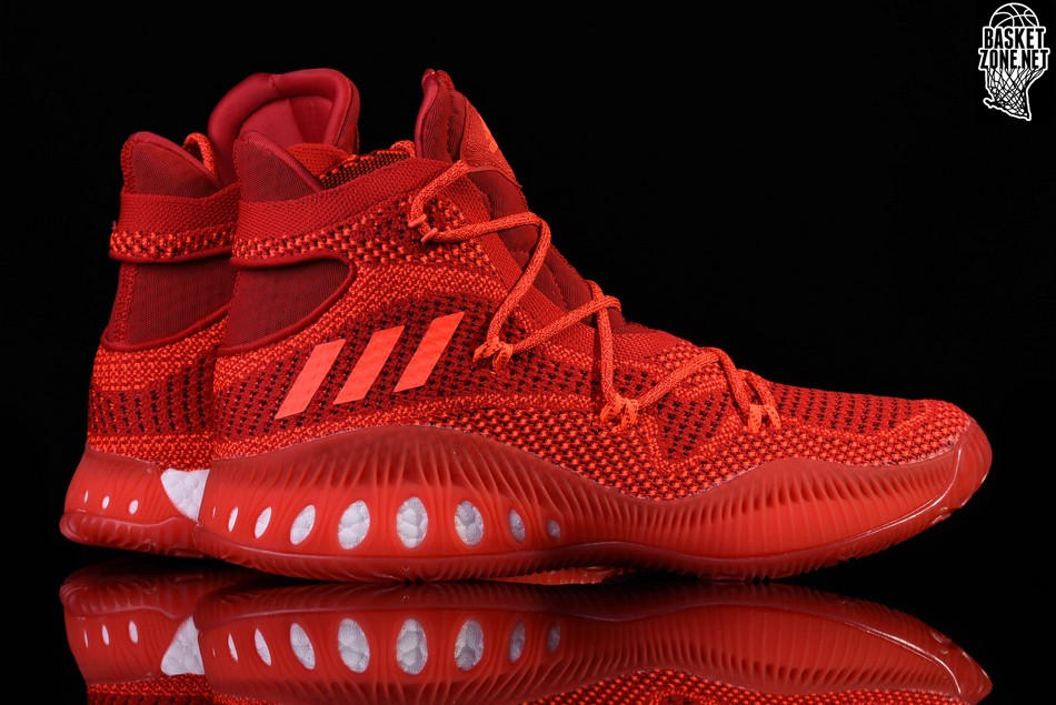 cheap for discount 8255e d1d87 ADIDAS CRAZY EXPLOSIVE PRIMEKNIT SOLAR RED