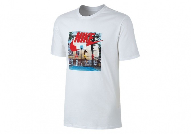 NIKE SPORTSWEAR HYBRID PHOTO TEE WHITE