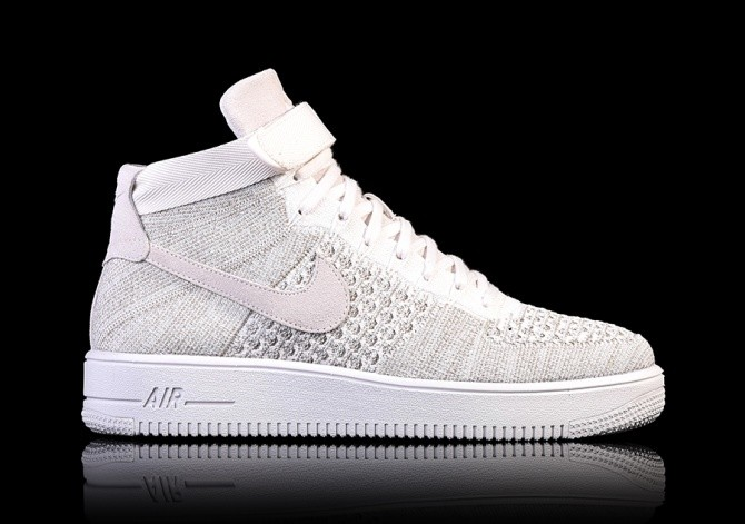 nike air force 1 high grijs