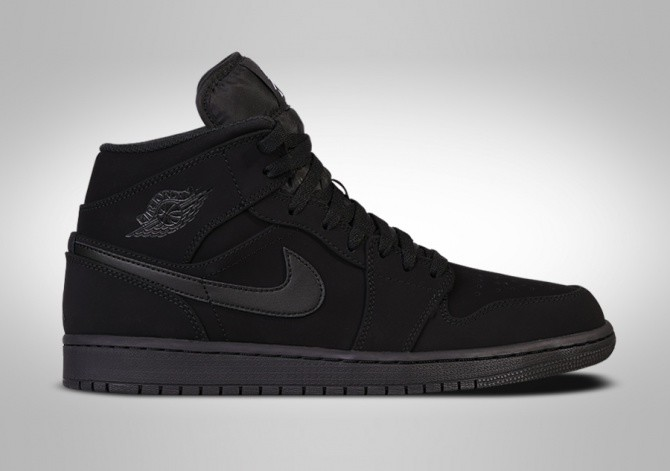 a8ab1ef73d7 NIKE AIR JORDAN 1 RETRO MID NUBUCK TRIPLE BLACK price €102.50 ...
