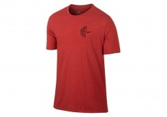NIKE DRY BASKETBALL LOGO TEE LIGHT UNIVERSITY RED