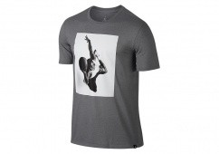 NIKE AIR JORDAN SPORTSWEAR FLIGHT HERITAGE TEE CARBON HEATHER