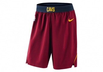 NIKE NBA CLEVELAND CAVALIERS SHORT ROAD TEAM RED