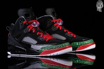 NIKE AIR JORDAN SPIZIKE BLACK RED POISON GREEN price S 222.50 ... f583decc4
