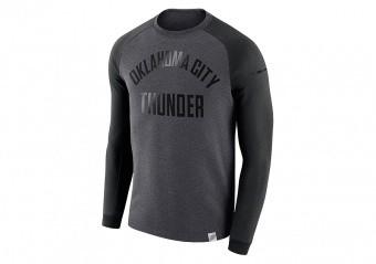 NIKE NBA OKLAHOMA CITY THUNDER MODERN CREW BLACK HEATHER