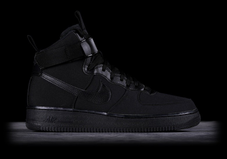 new product 0dd48 040de NIKE AIR FORCE 1 HIGH  07 CANVAS BLACK