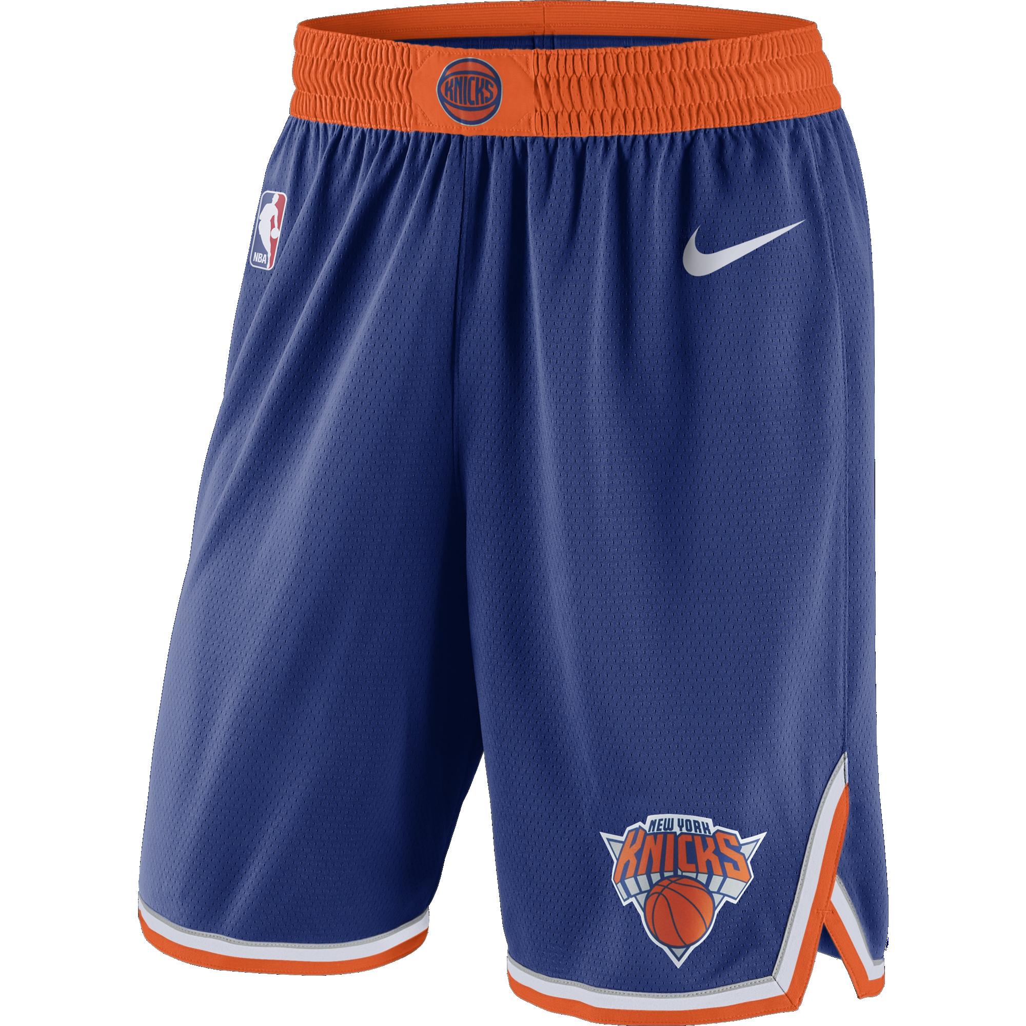 NIKE NBA NEW YORK KNICKS SWINGMAN SHORTS ROAD