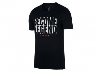NIKE AIR JORDAN BECOME LEGEND TEE BLACK
