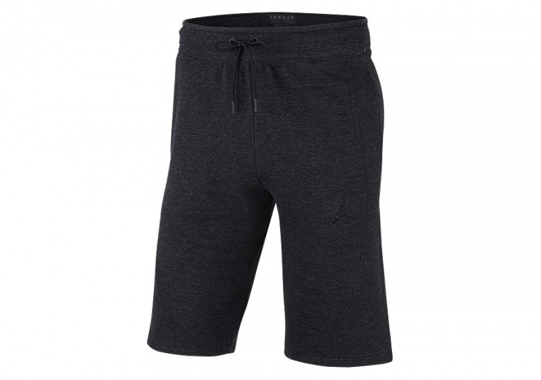 NIKE AIR JORDAN SPORTSWEAR WINGS LITE SHORTS BLACK HEATHER