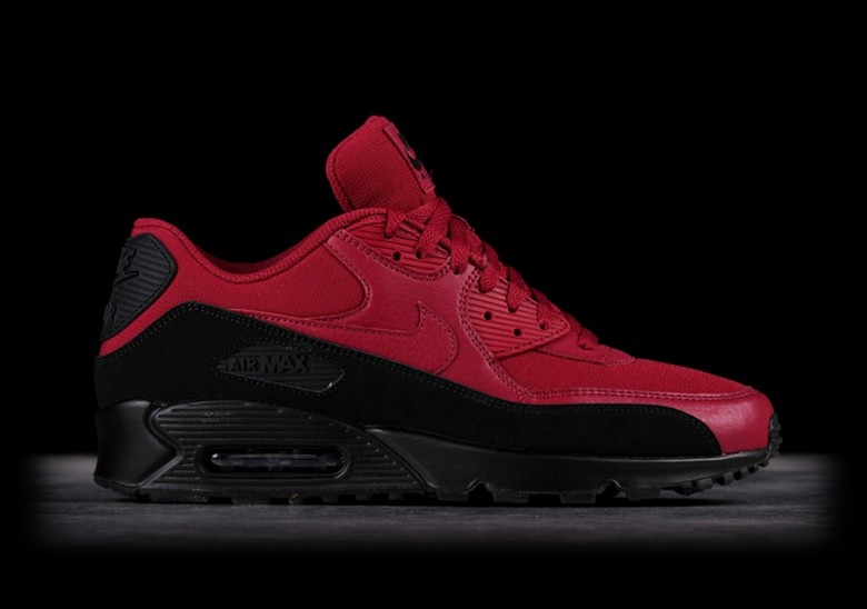 NIKE AIR MAX 90 ESSENTIAL BLACK RED price €125.00