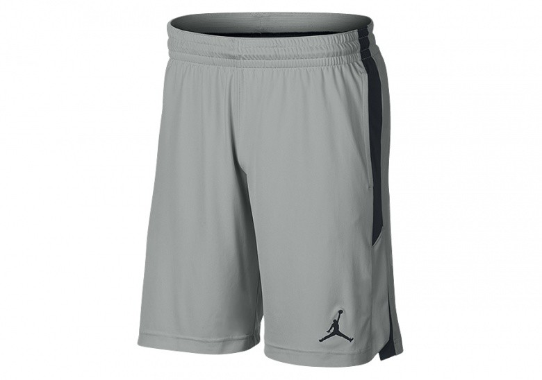 NIKE AIR JORDAN 23 ALPHA TRAINING DRY KNIT SHORTS LIGHT SMOKE GREY