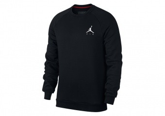 NIKE AIR JORDAN JUMPMAN FLEECE CREW BLACK
