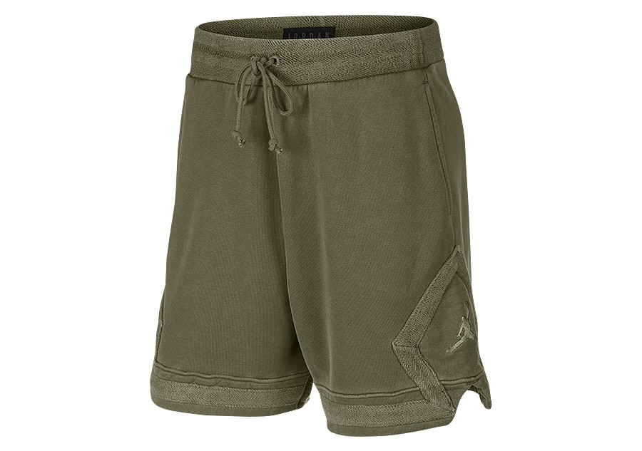 181586e01a6 NIKE AIR JORDAN WASHED DIAMOND FLEECE SHORTS OLIVE CANVAS price €65.00 |  Basketzone.net
