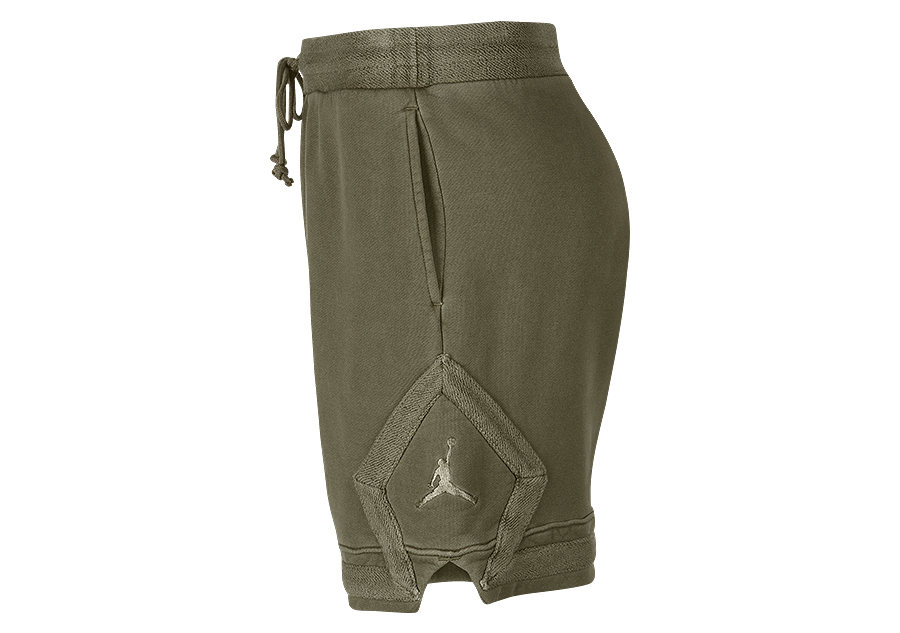6df5645f327 NIKE AIR JORDAN WASHED DIAMOND FLEECE SHORTS OLIVE CANVAS price ...