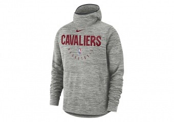 NIKE NBA CLEVELAND CAVALIERS SPOTLIGHT HOODIE CARBON HEATHER