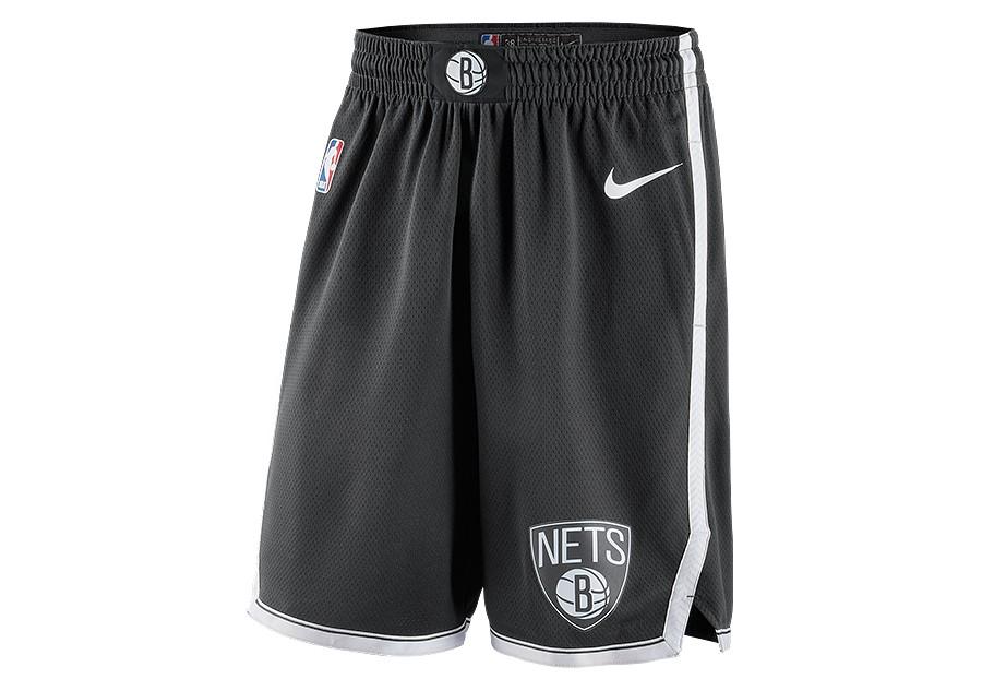 42efb880865 NIKE NBA BROOKLYN NETS SWINGMAN ROAD SHORTS BLACK price €62.50 ...