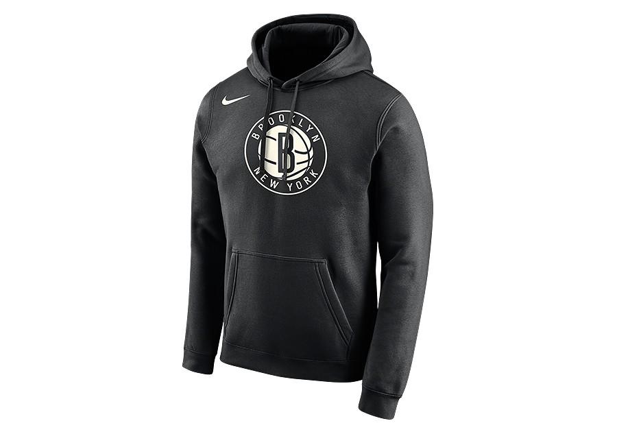 b48817aa8d9d NIKE NBA BROOKLYN NETS LOGO HOODIE BLACK price €62.50