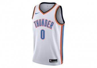NIKE NBA OKLAHOMA CITY THUNDER RUSSELL WESTBROOK SWINGMAN HOME JERSEY WHITE