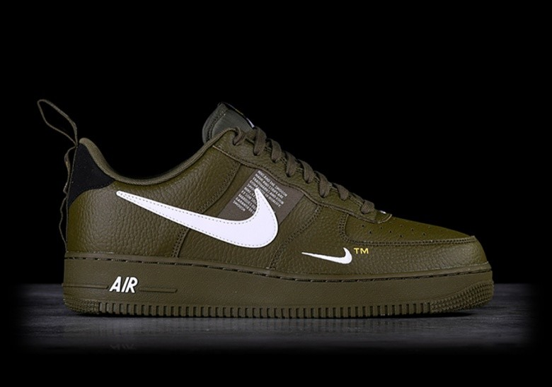 NIKE AIR FORCE 1 '07 LV8 UTILITY OLIVE CANVAS