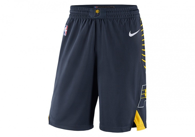 NIKE NBA INDIANA PACERS SWINGMAN ROAD SHORTS COLLEGE NAVY
