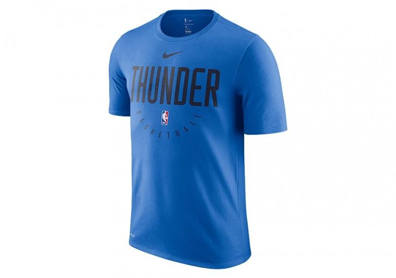 NIKE NBA OKLAHOMA CITY THUNDER DRY TEE SIGNAL BLUE