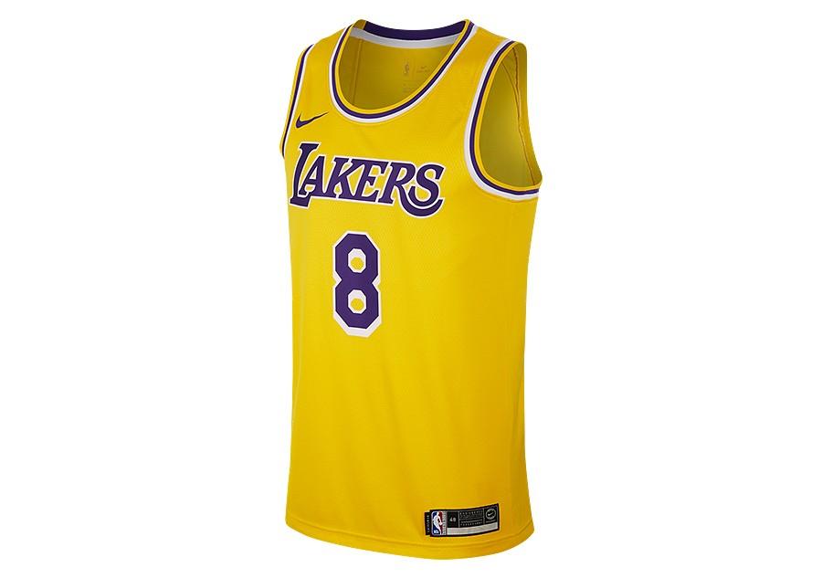 c373ee65acd0c NIKE NBA LOS ANGELES LAKERS KOBE BRYANT SWINGMAN ROAD JERSEY AMARILLO por  €92