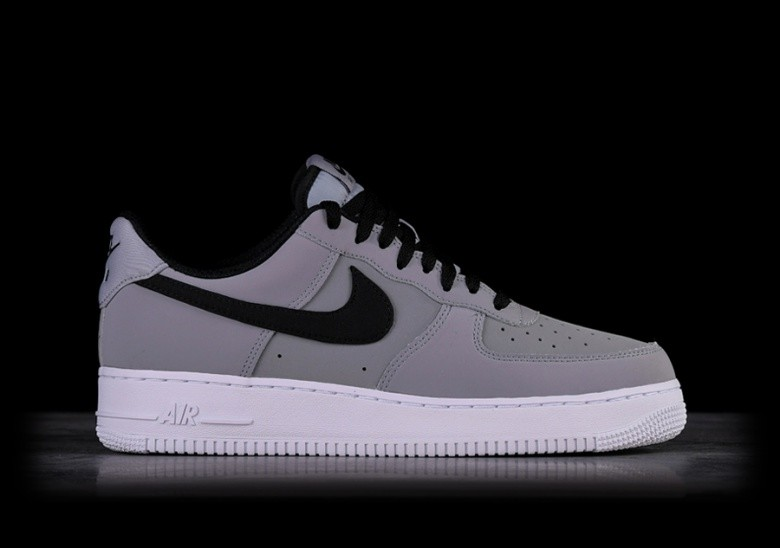 buy online 2f6a5 ed8d7 NIKE AIR FORCE 1 07 LEATHER GREY BLACK