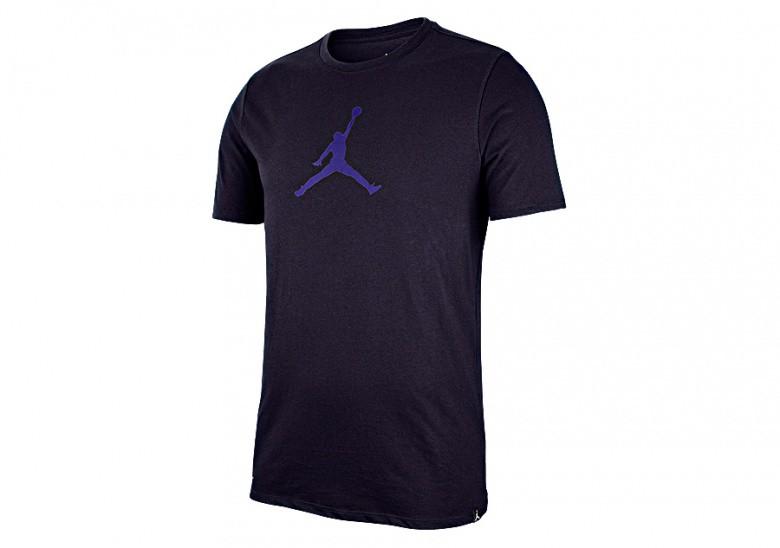 NIKE AIR JORDAN DRY 23/7 JUMPMAN BASKETBALL TEE BLACKENED BLUE