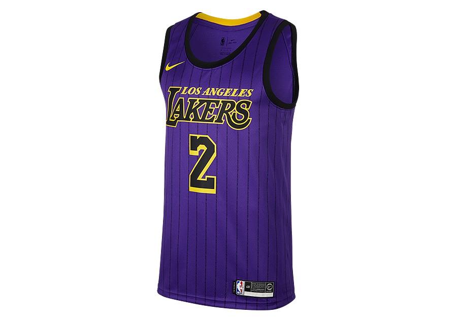 81cda15b674 NIKE NBA LOS ANGELES LAKERS LONZO BALL SWINGMAN JERSEY FIELD PURPLE ...