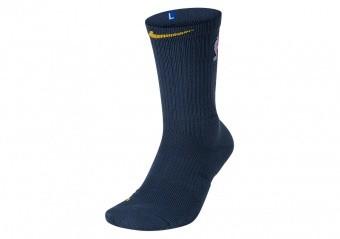 NIKE NBA GOLDEN STATE WARRIORS ELITE CREW THUNDER BLUE