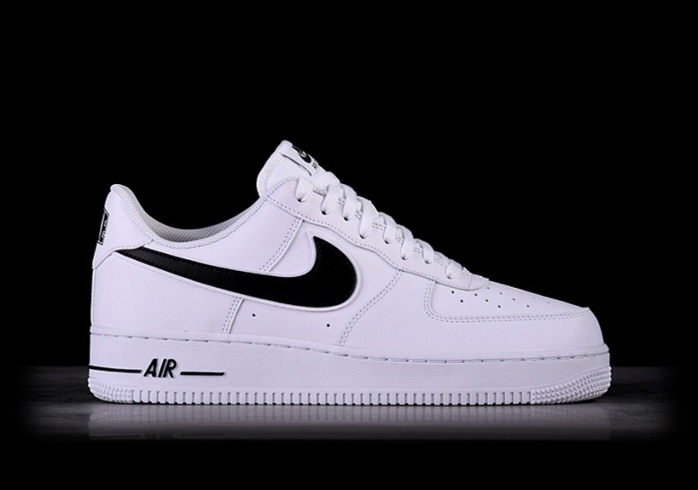 best sneakers 1bb68 6a03e NIKE AIR FORCE 1  07 WHITE BLACK SWOOSH