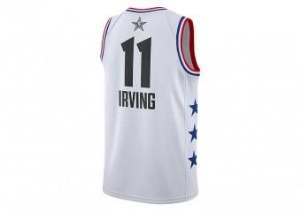 NIKE AIR JORDAN NBA ALL STAR WEEKEND 2019 LEBRON KYRIE IRVING JERSEY WHITE