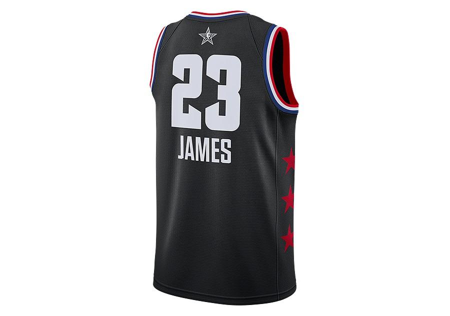 b2ca3c013652 NIKE AIR JORDAN NBA ALL STAR WEEKEND 2019 LEBRON JAMES SWINGMAN JERSEY  BLACK price €87.50