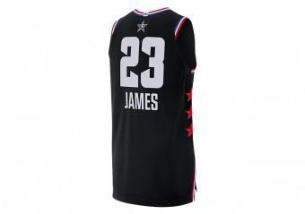 NIKE AIR JORDAN NBA ALL STAR WEEKEND 2019 LEBRON JAMES AUTHENTIC JERSEY BLACK