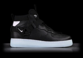 NIKE AIR FORCE 1 UTILITY MID BLACK