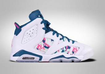 new style 26be8 12e62 NIKE AIR JORDAN 6 RETRO GREEN ABYSS (GS)