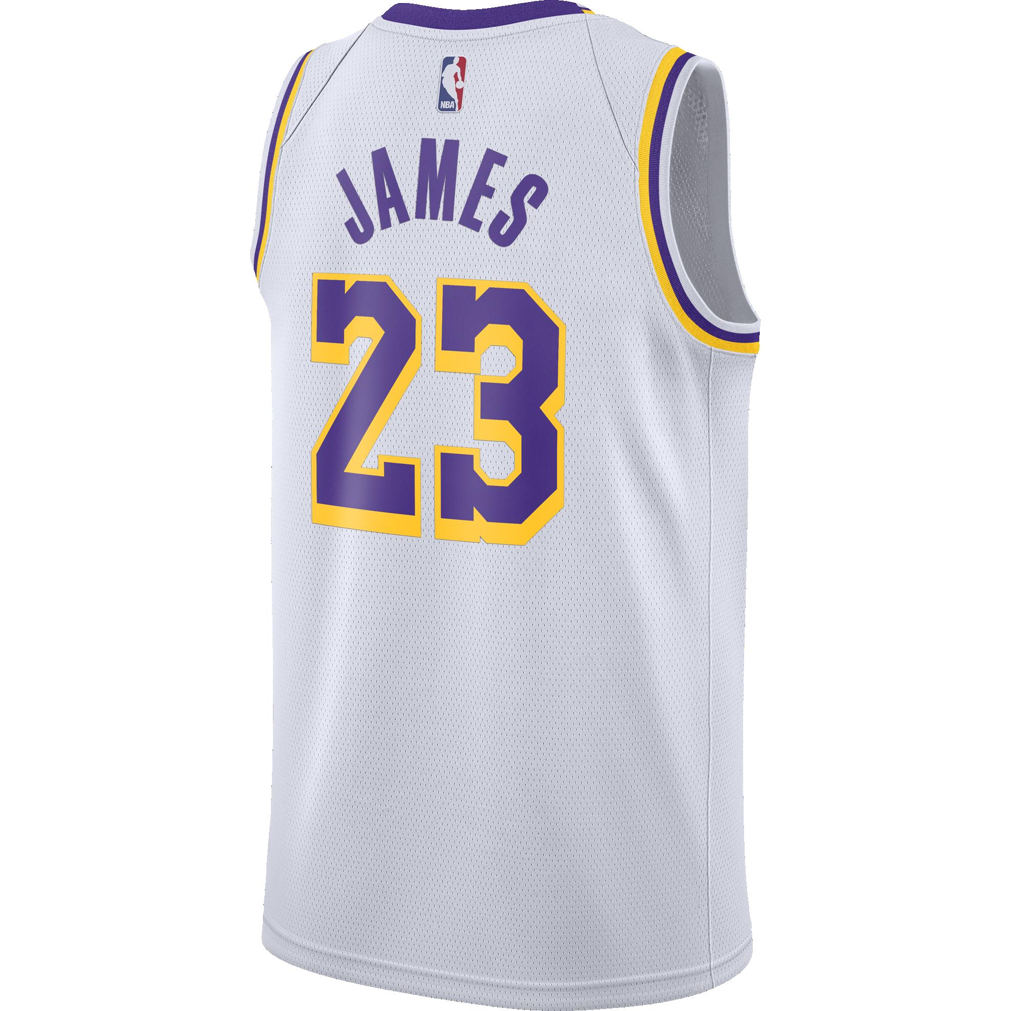 buy popular 55176 100c4 NIKE NBA LOS ANGELES LAKERS LEBRON JAMES SWINGMAN HOME ...