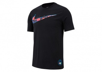 NIKE SWOOSH DRI-FIT TEE BLACK