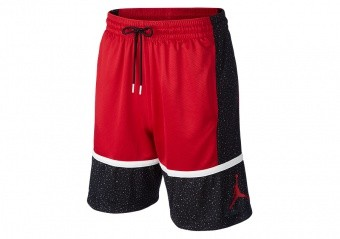 NIKE AIR JORDAN JUMPMAN GRAPHIC SHORTS GYM RED