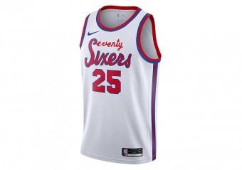 NIKE NBA PHILADELPHIA 76ERS BEN SIMMONS CLASSIC EDITION SWINGMAN JERSEY WHITE