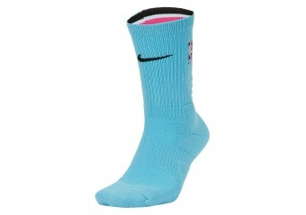 NIKE NBA MIAMI HEAT CITY EDITION SOCKS BLUE GALE