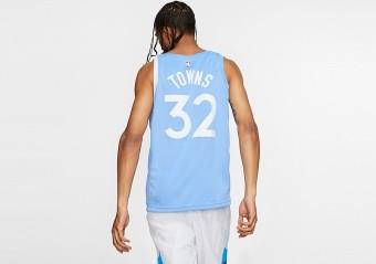NIKE NBA MINNESOTA TIMBERWOLVES KARL-ANTHONY TOWNS CITY EDITION SWINGMAN JERSEY VALOR BLUE