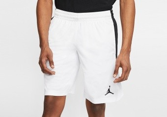 NIKE AIR JORDAN 23 ALPHA TRAINING DRY KNIT SHORTS WHITE