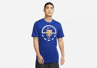 NIKE FC BARCELONA DRI-FIT TEE DEEP ROYAL BLUE
