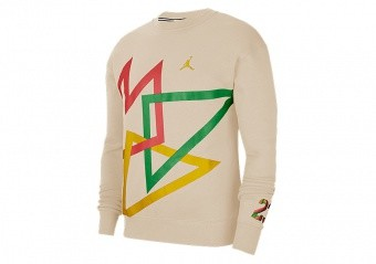 NIKE AIR JORDAN SPORT DNA HBR FLEECE CREW OATMEAL