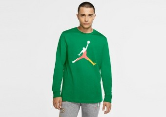 NIKE AIR JORDAN SPORT DNA LONG-SLEEVE CREW TEE LUCKY GREEN